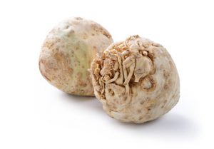 Celeriac on a white background