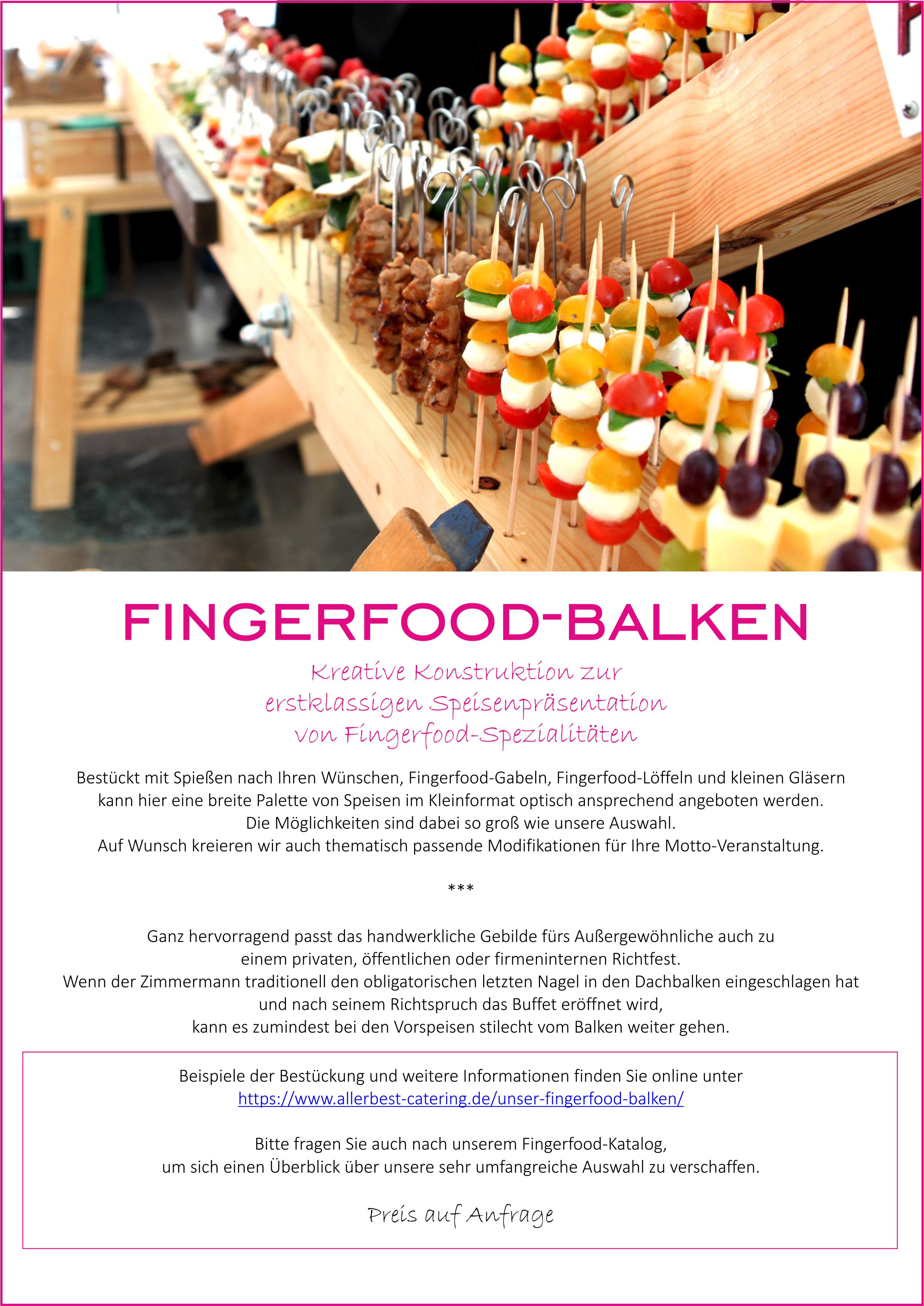 Titelblatt Fingerfood-Balken 2018